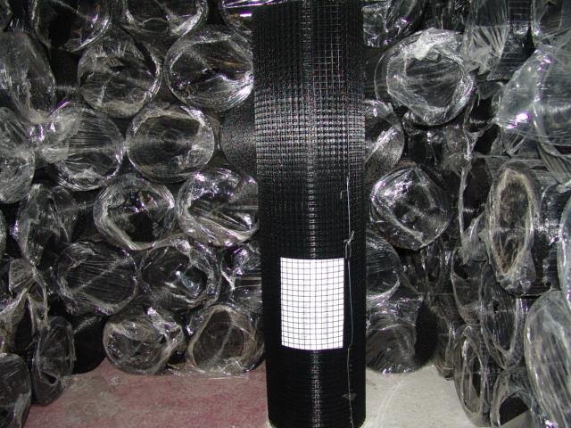Volierendraht schwarz ummantelt mit PVC, 25 x 1 m