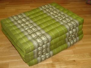 TK0014-10 Klappmatratze (4er Liege) - grün/olivgrün/Elefant