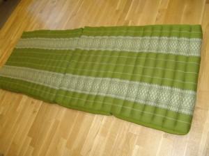 TK0014-28 Klappmatratze (4er Liege) - grün/Blume