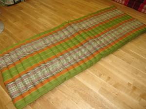 TK0014-34 Klappmatratze (4er Liege) - grün/orange/Blume