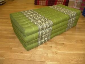 TK0017-10 Klappmatratze BREIT (4er) - grün/olivgrün/Elefant