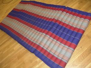 TK0017-33 Klappmatratze BREIT (4er) - blau/rot/Blume