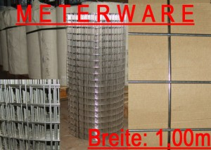VD03-31M Volierendraht Edelstahl (V2A) Maschenweite: 38,1 x 38,1mm Drahtstärke: 3,0 mm
